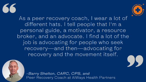 Barry shelton peer recovery coach