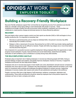 Opioids at work employer toolkit
