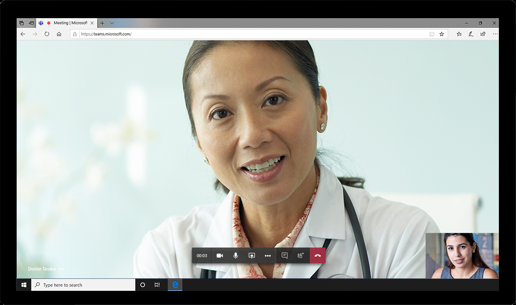 online telemedicine visit with a doctor