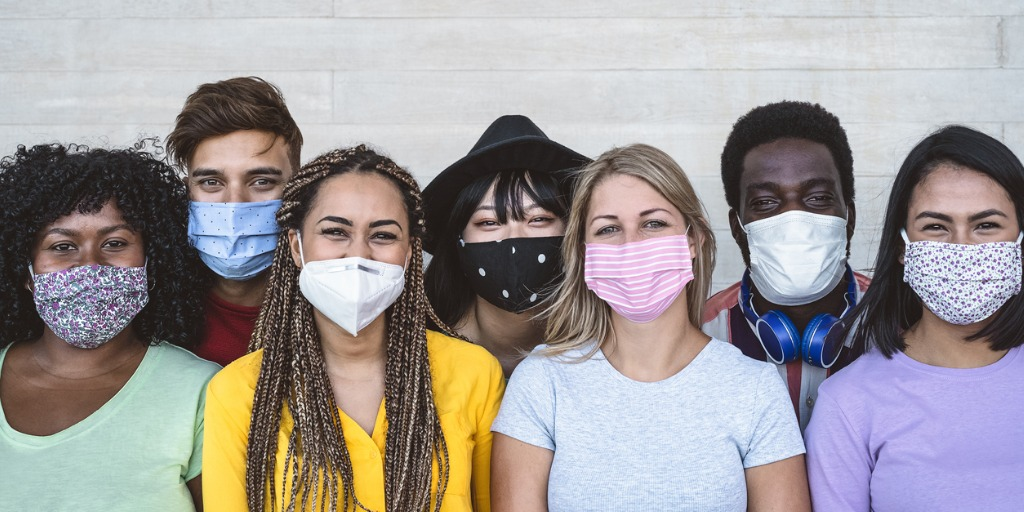 masked group of people