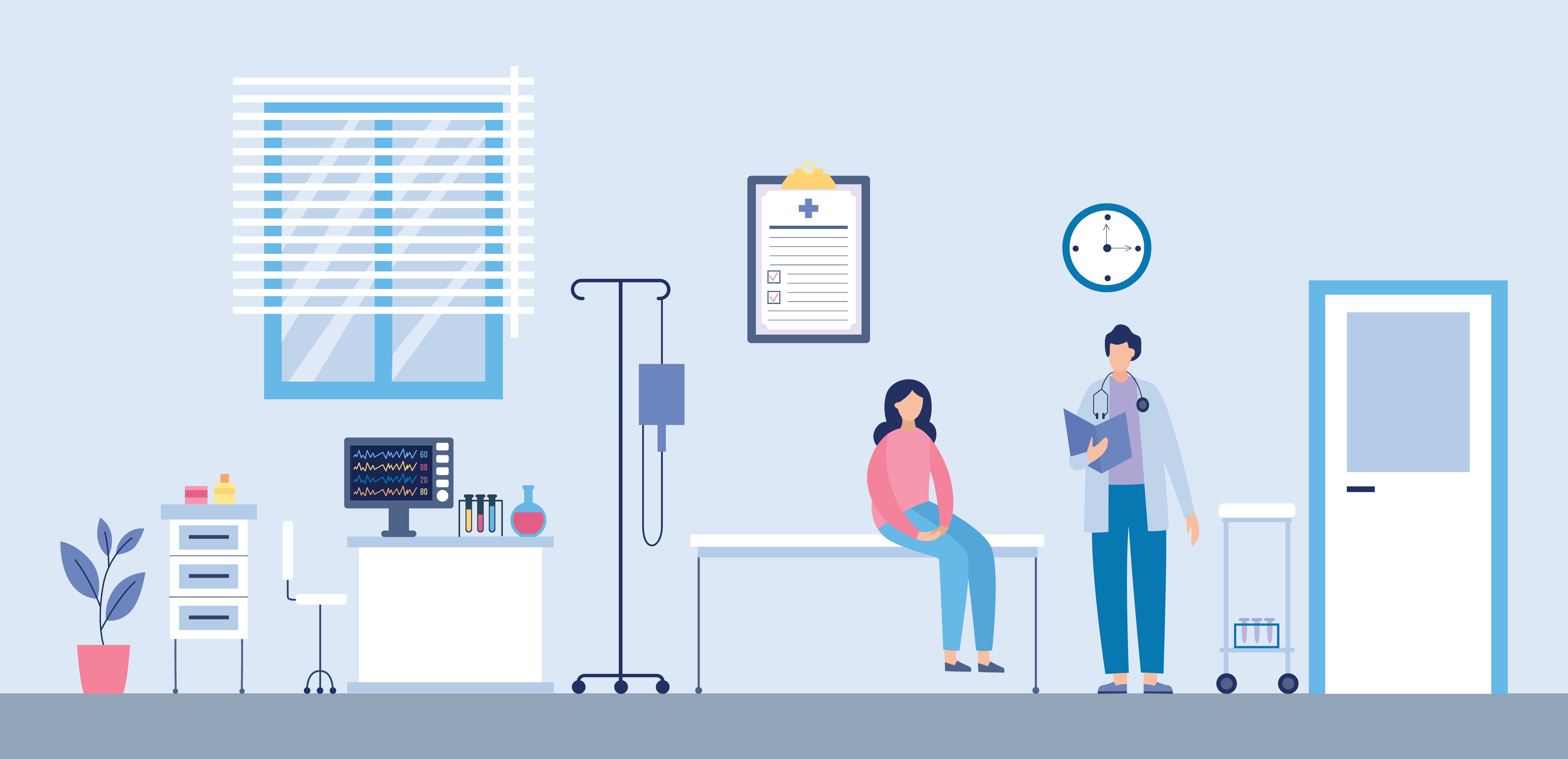 doctor and patient graphic